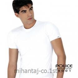 عکس ارائه دهنده اصلی برند تی شرت کتان آستین کوتاه یقه گرد مدل B001 پلیس POLICE BODY SIZE