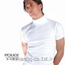 تی شرت کتان آستین کوتاه یقه اسکی مدل B006 پلیس POLICE BODY SIZE