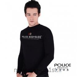 عکس ارائه دهنده اصلی برند تی شرت کتان آستین بلند یقه گرد مدل F193 پلیس POLICE BODY SIZE