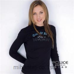 تی شرت کتان آستین بلند یقه گرد دخترانه مدل G149 پلیس POLICE BODY SIZE