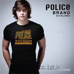 عکس ارائه دهنده اصلی برند تی شرت کتان آستین کوتاه یقه گرد مدل X064 پلیس POLICE BODY SIZE