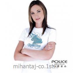 عکس ارائه دهنده اصلی برند تی شرت کتان آستین کوتاه یقه گرد دخترانه مدل G226 پلیس POLICE BODY SIZE