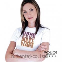 عکس ارائه دهنده اصلی برند تی شرت کتان آستین کوتاه یقه گرد دخترانه مدل G195 پلیس POLICE BODY SIZE