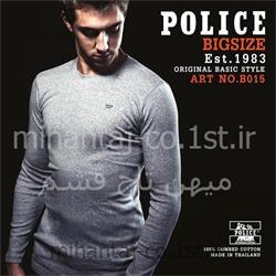 تی شرت کتان آستین بلند یقه گرد مدل B015 پلیس POLICE BODY SIZE