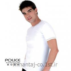 تی شرت کتان آستین کوتاه یقه گرد مدل B065 پلیس POLICE BODY SIZE