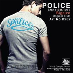 عکس ارائه دهنده اصلی برند تی شرت کتان آستین کوتاه یقه گرد مدل B282 پلیس POLICE BODY SIZE