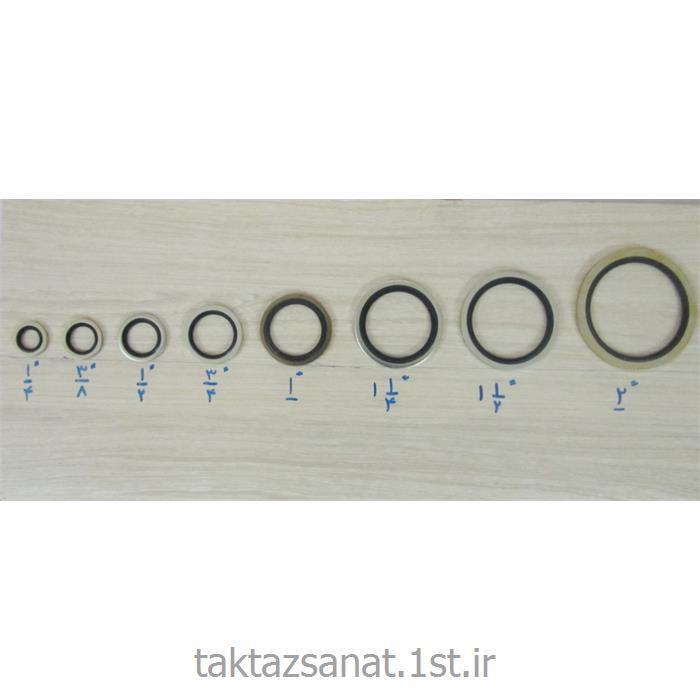 واشر لاستیکی پشت فلز دار در سایز و اندازه مختلف
