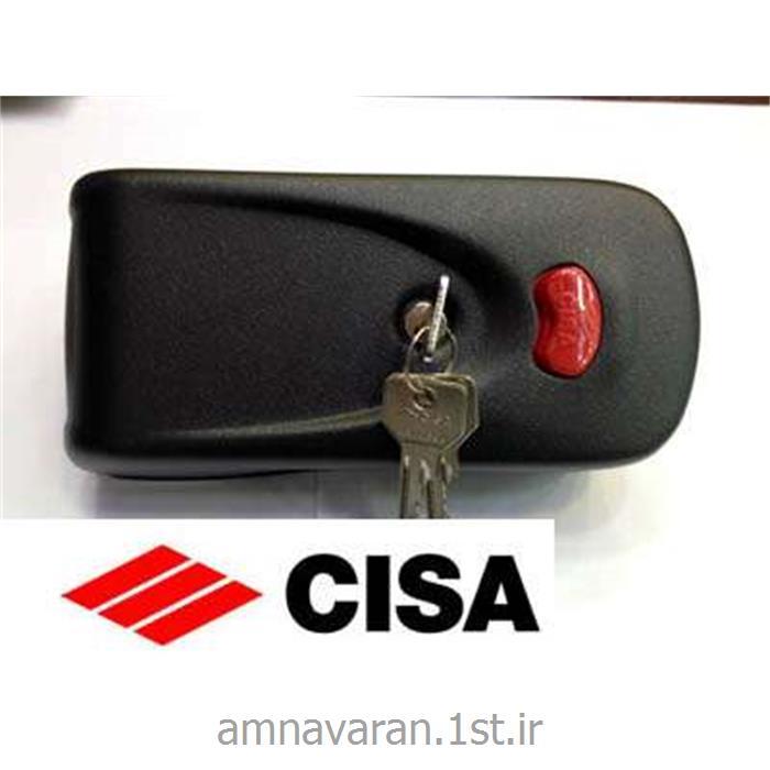 عکس ابزار قفل بازکنیقفل برقی بدون زنجیر ( کله گاوی) درب اتوماتیک مارک سیزا ایتالیا Cisa