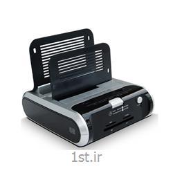 عکس محفظه هارد دیسکنگهدارنده هارد رومیزی USB3.0 همراه کارتخوان فرانت -Faranet USB 3.0 HDD Docking Station w/Reader & HUB