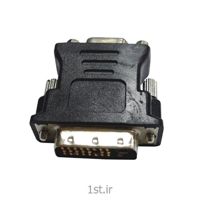 عکس کابل و کانکتور کامپیوترتبدیل وی جی ای ماده به دی وی آی نر فرانت / Faranet VGA Female to DVI-I Male Adapter