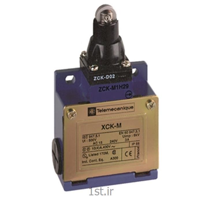 عکس لیمیت سوئیچ ( سوئیچ محدود کننده )لیمیت سوئیچ  اشنایدر تله مکانیک XCKM102     غلطکی فشاری
