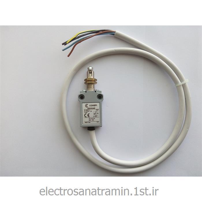 عکس لیمیت سوئیچ ( سوئیچ محدود کننده )لیمیت سوئیچ فلزی پهن کابل دار فشاری قرقره COMEPI مدل EM2G24Z
