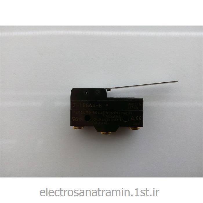 عکس میکرو سوئیچمیکرو سوئیچ بدنه باکالیت تیغه بلند OMRON مدل Z-15GW4-B