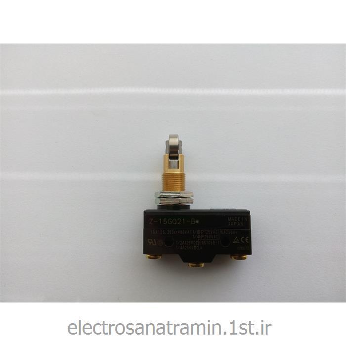 عکس میکرو سوئیچمیکرو سوئیچ بدنه باکالیت فشاری قرقره OMRON مدل Z-15GQ21-B