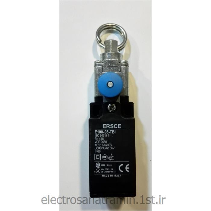 عکس لیمیت سوئیچ ( سوئیچ محدود کننده )لیمیت سوییچ بدنه باکالیت کششی ریست دار Ersce E100-08-TBI