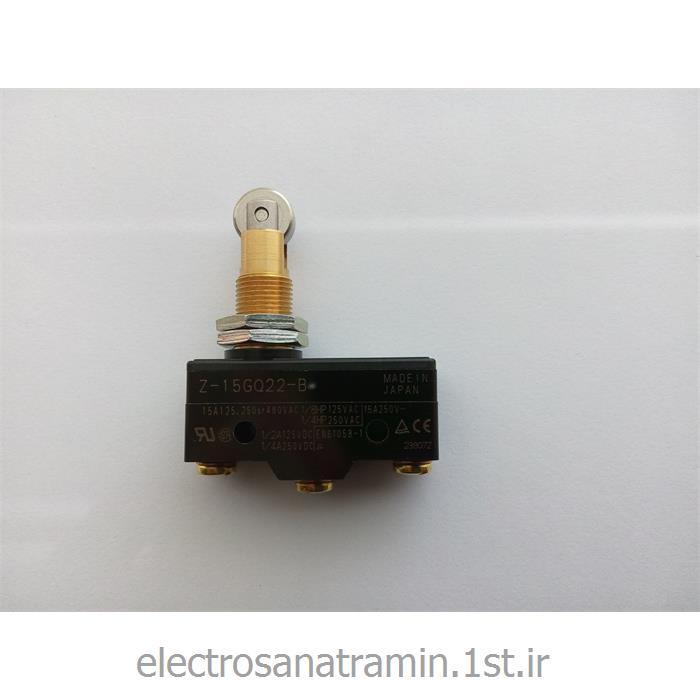 عکس میکرو سوئیچمیکرو سوئیچ بدنه باکالیت فشاری قرقره OMRON مدل Z-15GQ22-B