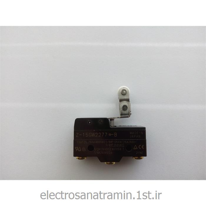 عکس میکرو سوئیچمیکرو سوئیچ بدنه باکالیت دو قرقره OMRON مدل Z-15GW2277-B