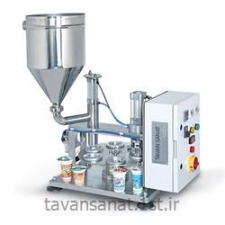 دستگاه پرکن روتاری نیمه اتوماتیک تک فاز سیلکن ظروف لیوانی تک نازله