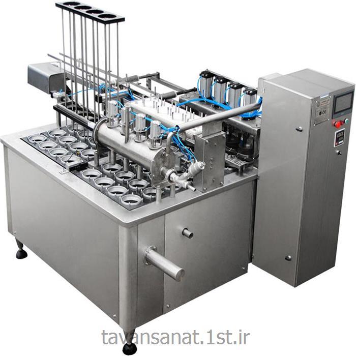 عکس خدمات تولید ماشین آلاتپرکن خطى مخصوص ظروف لیوانى 4 نازله تمام اتومات