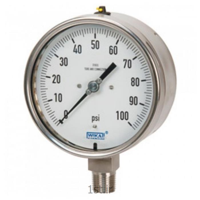 عکس نمایشگر فشار (مانیتور فشار)پرشر گیج ویکا مدل 232.50  فشار 0 تا 6بار اتصال از زیر NPT1/2