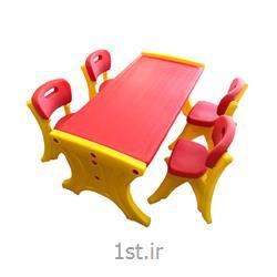 میز کودک مدل نیمکتی