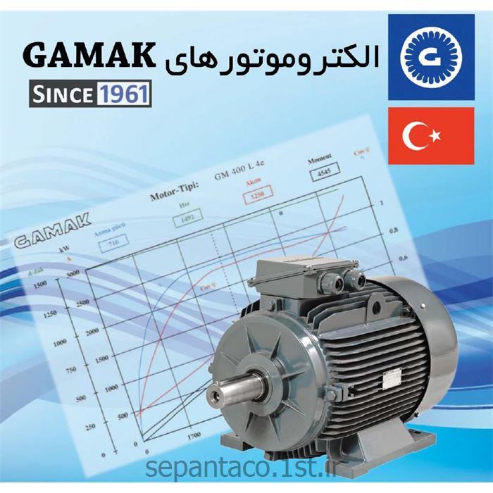 الکتروموتور 15 کیلو وات 1000 دور گاماک