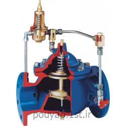 عکس شیر فلکهشیر فشارشکن یا تثبیت کننده فشار پایلوت دار و دیافراگمی کنترل اتواتیک میراب