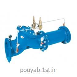 عکس شیر فلکهشیر ترکیبی کنترل دبی و فشار شکن پایلوت دار و دیافراگمی کنترل اتواتیک میراب