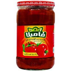 عکس گوجه فرنگیرب گوجه فرنگی شیشه ای 700 گرمی فامیلا