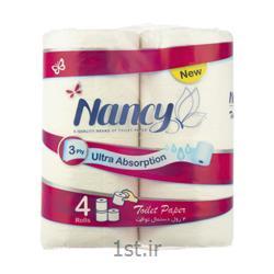 دستمال توالت نانسی ۳ لایه بسته 4 عددی