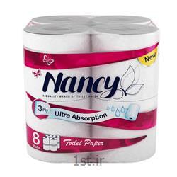 عکس دستمال توالتدستمال توالت نانسی ۳ لایه بسته 8 عددی