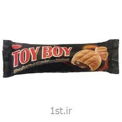 عکس بیسکویت کودکبیسکویت مغزدار شکلاتی toy boy 110 گرم شیرین وطن