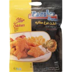 عکس گوشت مرغ و خروسناگت مرغ ستاره 1 کیلوگرمی مارین