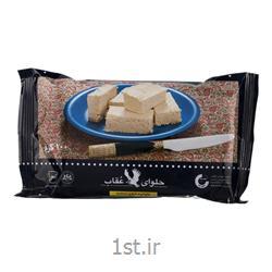 عکس حلوا و مسقطیحلوا شکری 100 گرمی در بسته بندی ویژه عقاب