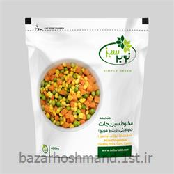 عکس سبزیجات یخ زدهمخلوط سبزیجات منجمد نوبر سبز وزن 400 گرم