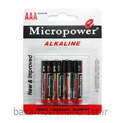عکس سایر باتری ها (باطری ها)باتری آلکالاین نیم قلمی شیرینگ 4 عددی میکروپاور