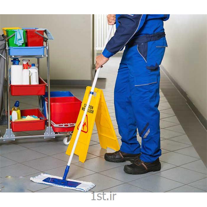 نظافت ساختمان و پارکینگ و راه پله توسط نیرو آقا