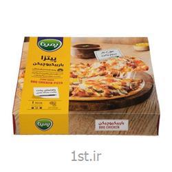 عکس نان پیتزاپیتزا باربیکیو چیکن سایز متوسط 380 گرمی پمینا