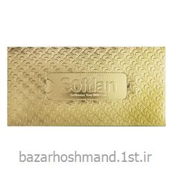 عکس دستمال کاغذیدستمال کاغذی 100 برگ سه لایه طلایی سافتلن
