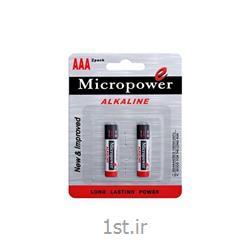 عکس سایر باتری ها (باطری ها)باتری نیم قلمی کربن زینک کارتی 2 عدد میکروپاور