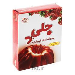 پودر ژله دراژه با طعم توت فرنگی وزن 100 گرم