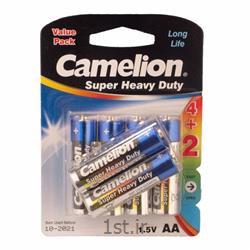 عکس سایر باتری ها (باطری ها)باطری قلمی کربن زینک 6 عددی کملیون