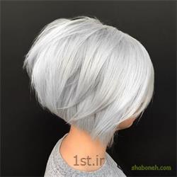 دکلره رنگ موی کوتاه (با مواد )