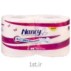 دستمال توالت نانسی ۳ لایه بسته 2 عددی