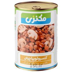 عکس کنسرو سبزیجاتکنسرو لوبیا چیتی با قارچ مکنزی - 380 گرم