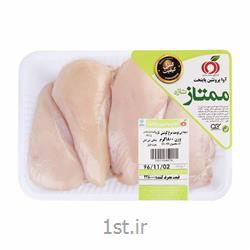 عکس گوشت مرغ و خروسران وسینه مرغ بی پوست 1800 گرمی اوا