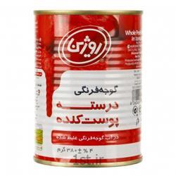 عکس کنسرو سبزیجات کنسرو گوجه درسته پوست کنده 380 گرمی روژین