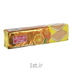 عکس بیسکویت کودکبیسکویت کرم دار شیرین عسل با طعم پرتقال مقدار 120 گرم