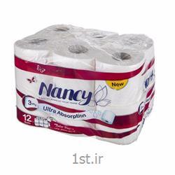دستمال توالت نانسی ۳ لایه بسته 12 عددی