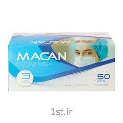 عکس محافظ و ماسک صورتماسک بهداشتی 3 لایه 50 عددی ماکان